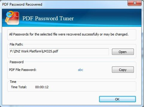 Cocosenor PDF Password Tuner(PDF密码恢复工具)