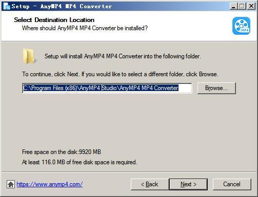 AnyMP4 MP4 Converter(mp4格式转换器) v7.2.22免费版