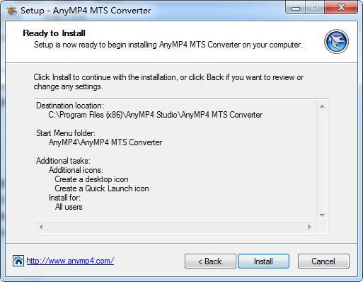 AnyMP4 MTS Converter(mts视频格式转换器) v7.2.26免费版