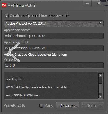 photoshop cc 2017注册机 附使用方法
