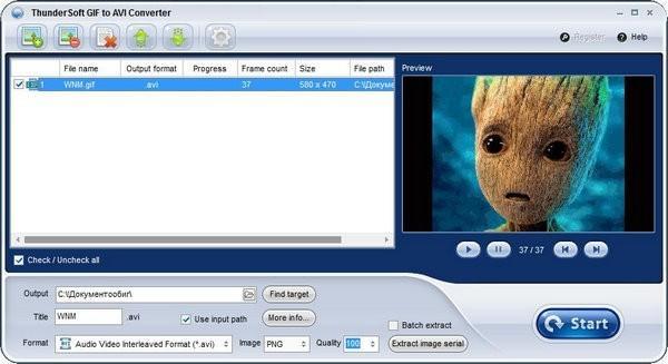 ThunderSoft GIF to AVI Converter