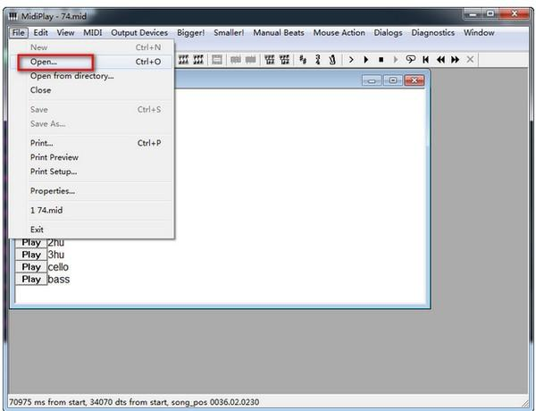 MidiPlay(midi文件播放器) v2.7绿色版