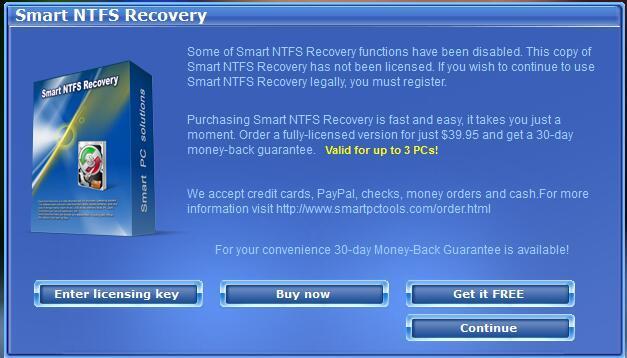 Smart NTFS Recovery(NTFS数据恢复软件) v4.3绿色版