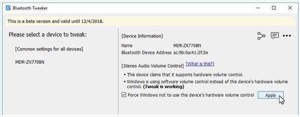 Bluetooth Tweaker(蓝牙调节器)