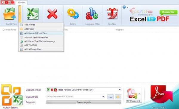 Foxpdf Excel to PDF Converter破解版下载