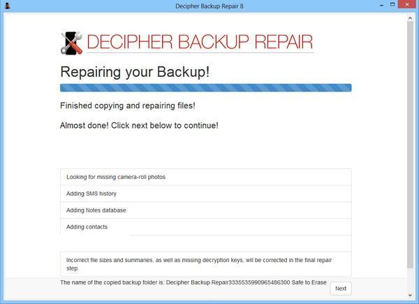 Decipher Backup Repair(备份修复工具)