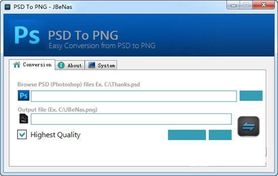 PSD To PNG(PSD转PNG格式工具)