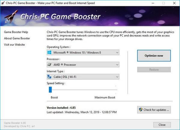 Chris-PC Game Booster免费版下载
