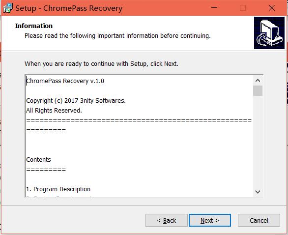 ChromePass recovery