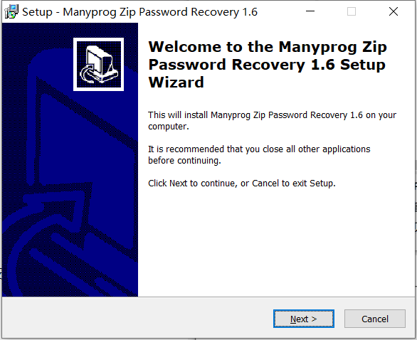 Manyprog Zip Password recover