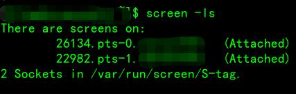 linux运维利器screen状态为Attached连上不的解决办法