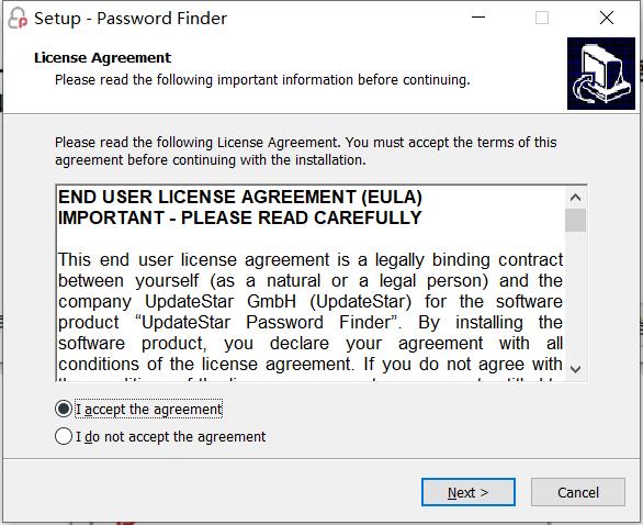 UpdateStar Password Finder