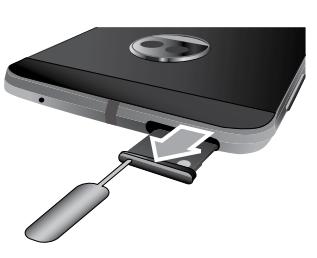 Moto z 2018如何取出和安装内存卡