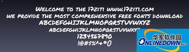 电脑版permanent字体