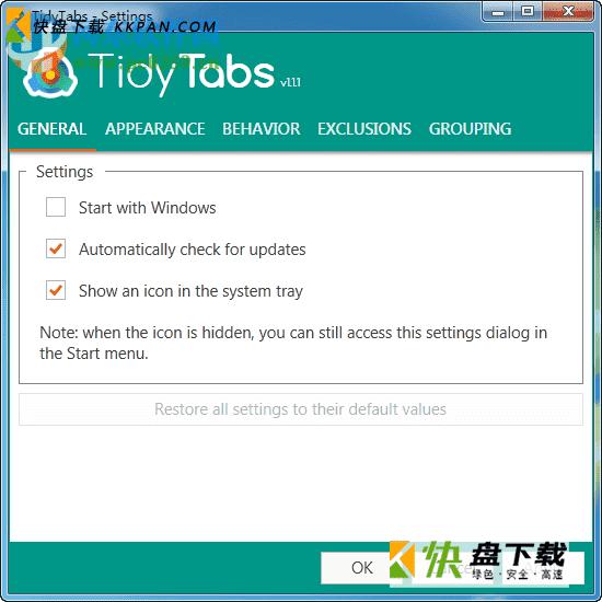 标签管理工具TidyTabs免费版下载 v1.17.1