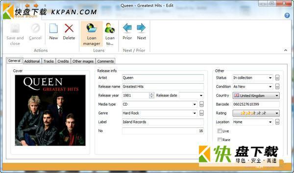 My Music Collection音乐管理软件下载 v1.03 最新版