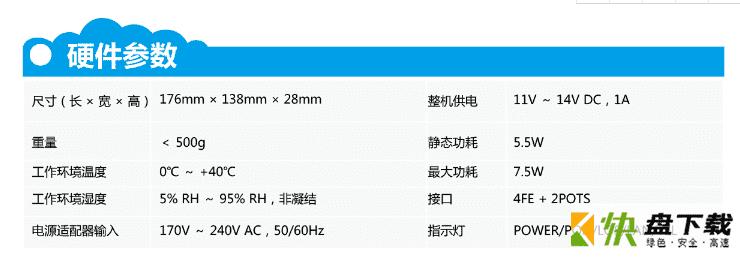 HG8240F硬件接口参数、产品功能介绍