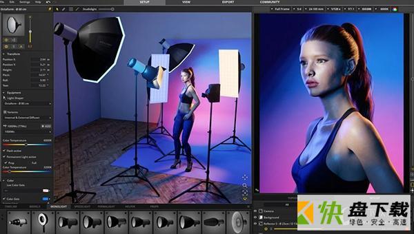 摄影棚3D布光模拟软件 v1.0.0.90 破解版
