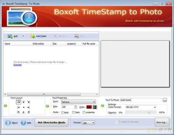 Boxoft TimeStamp to Photo下载